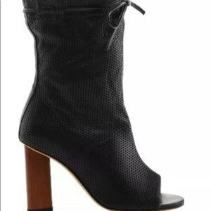 Iro Jeans Dariel Perforated Open Toe Bootie Size38